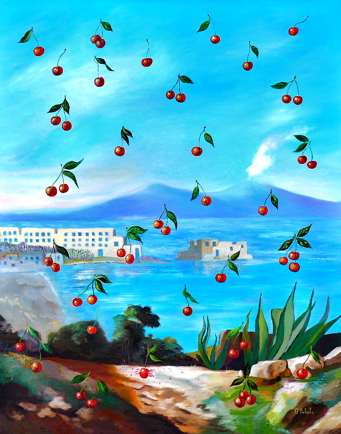 2016 - Naples the cherries one shot - oil on canvas