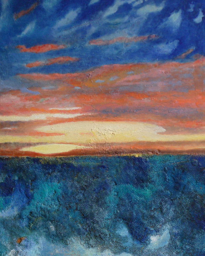 2011 - Sunrise - 50x60 - oil and mixed media on canvas